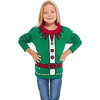 HSA Meisjes Kinderen Jongens Kinderen Unisex Kerstmis Kerstmis Gebreide Nieuwigheid, Retro, Elf, Star Wars Voetbaltrui…