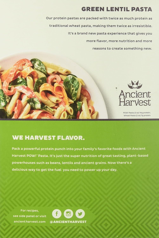Amazon.com : Ancient Harvest Pasta Penne Green Lentil 8 ounce ...