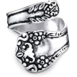 Princess Kylie 925 Sterling Silver Oxidized Butterfly Angel Stencil Ring