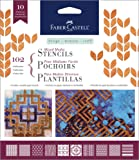Faber-Castell Mixed Media Stencils - Classic Graphic II - 10 Paper Stencils, 102 - Classic (FC770602)