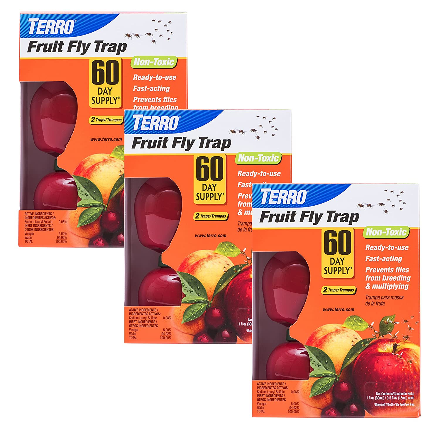 Terro T2503-3 Fruit Fly Trap