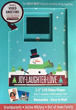 Amazon video holiday greeting card 2 minute recordable lcd video holiday greeting card 2 minute recordable lcd video color screen reusable m4hsunfo