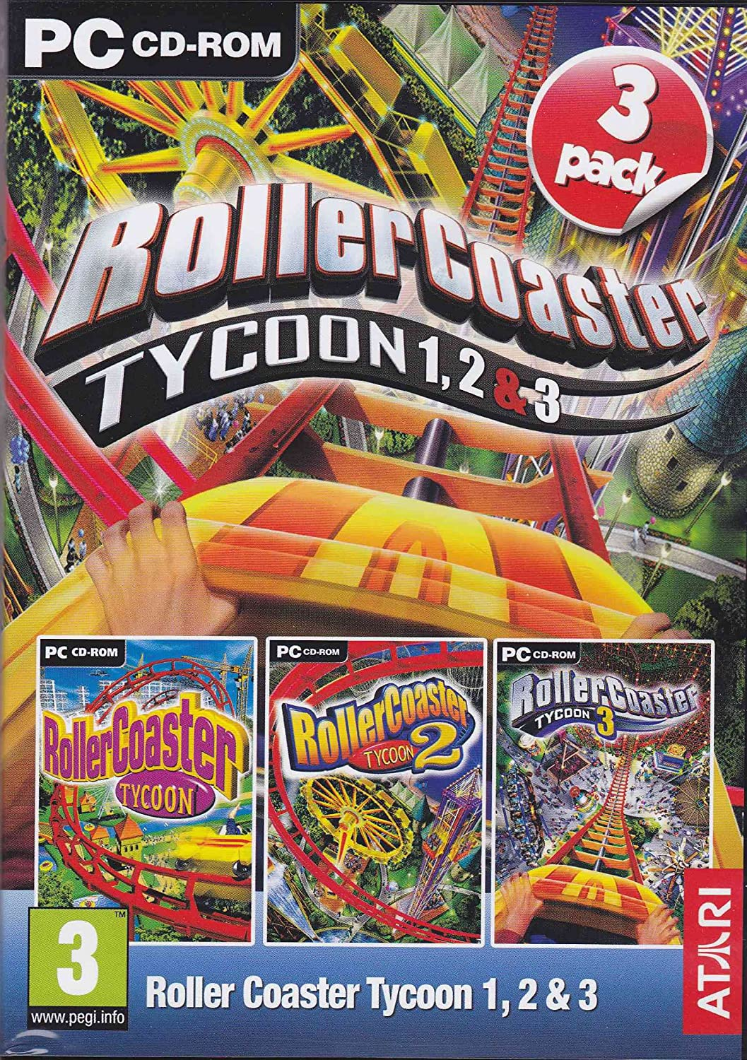 Amazon com: Roller Coaster Tycoon 1,2,3 (3-pack): Video Games