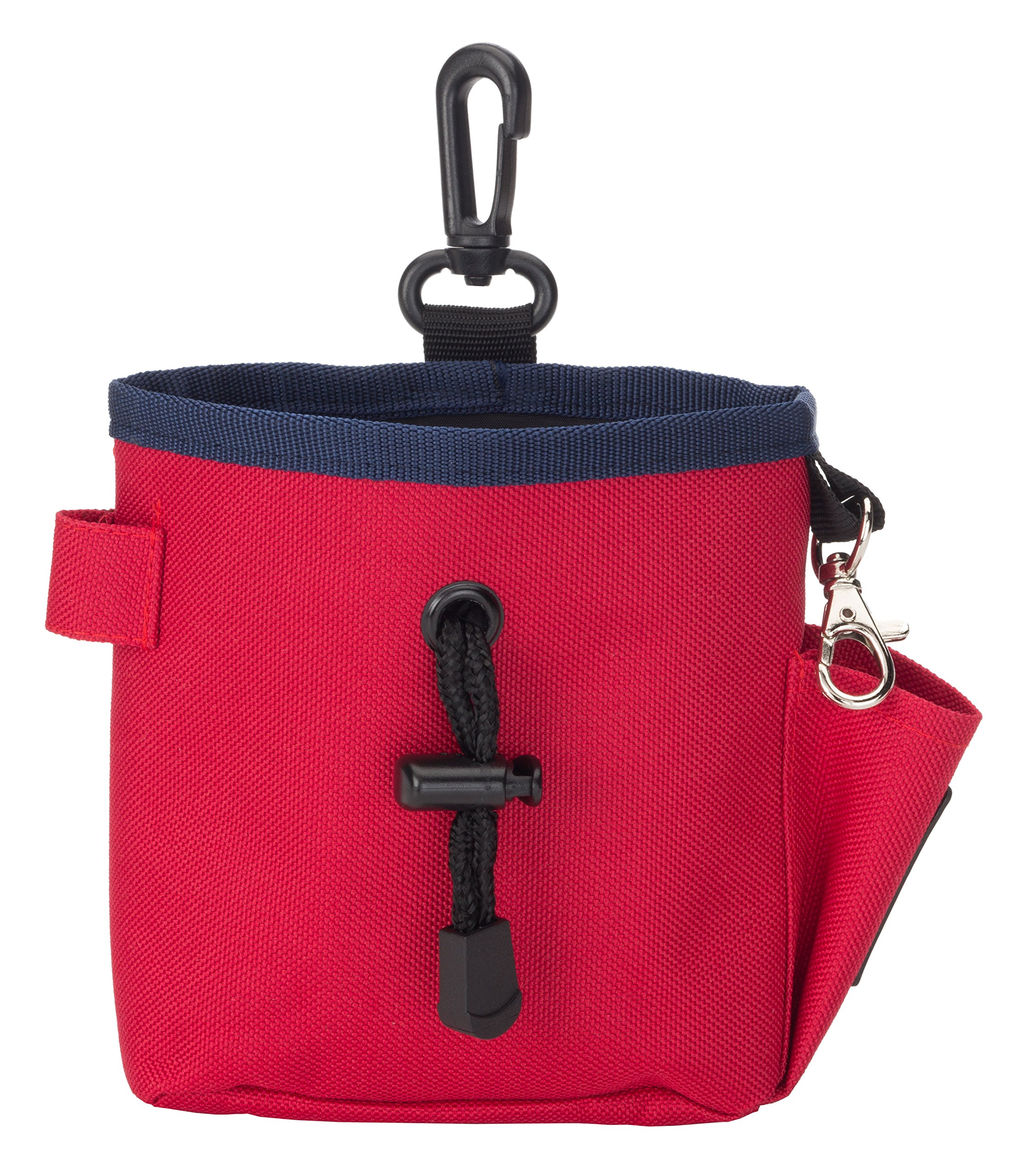 The Company of Animals - CLIX Treat Bag - Hand-Free Storage for Treats, Toys, Training Accessories and Personal Items - Red