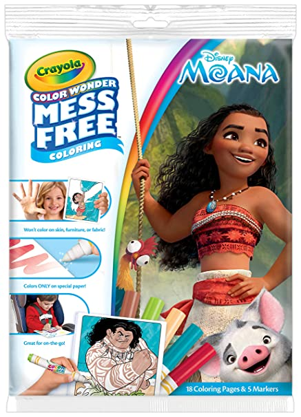 Amazon.com: Crayola Color Wonder Coloring Pad and Markers, Moana ...