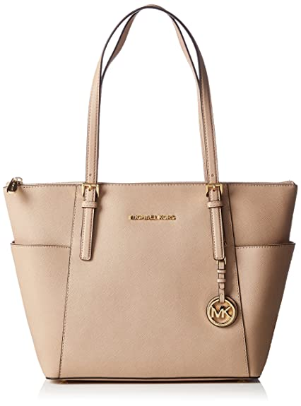 Michael KorsJet Set Top-Zip Saffiano Leather Tote - Bolsa de Asa Superior Mujer,