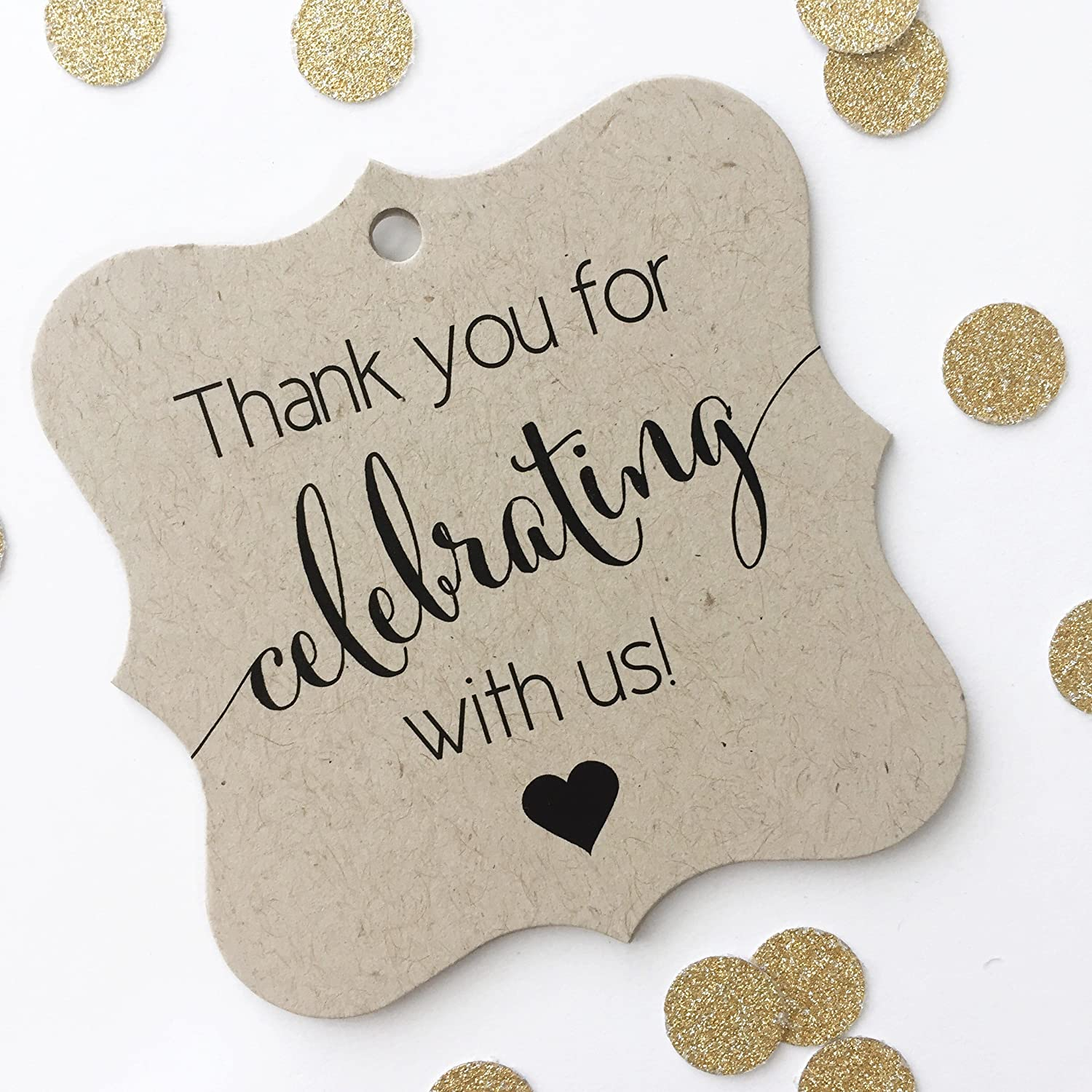 thank you favor tags thank you wedding tags thank