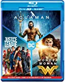 DC 3 Movies Collection: Aquaman + Wonder Woman + Justice League (Blu-ray 3D & Blu-ray)