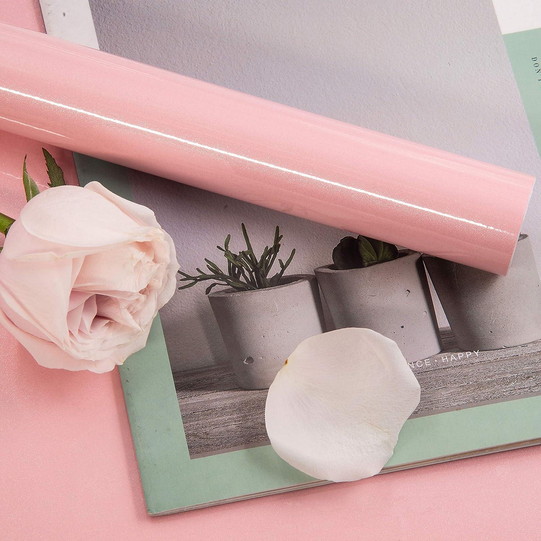 Decoroom Adesivi Carta per mobili Rosa 40 cm /× 3 m Adesivo Impermeabile per Rinnovo dei Mobili del Cassetto del Guardaroba da Scrivania
