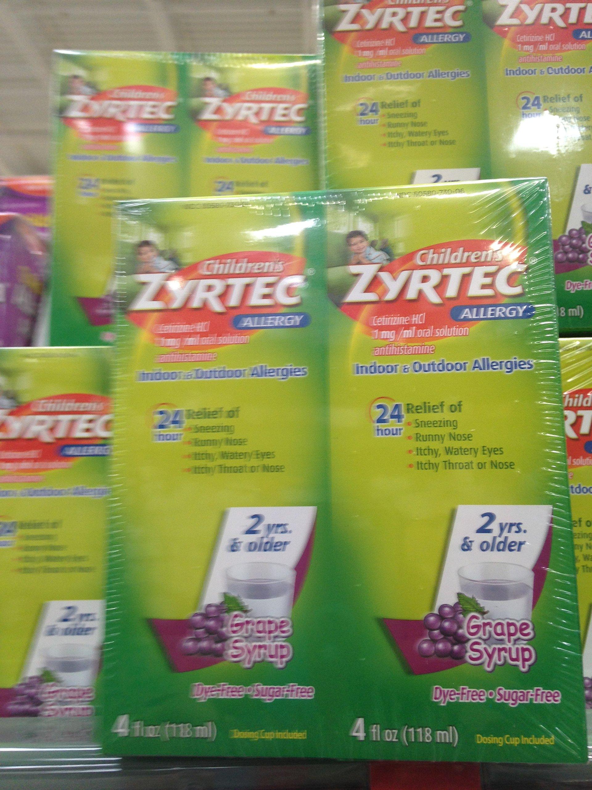 Zyrtec Allergy children's grape flavored 2x 4 oz (pack of 6)