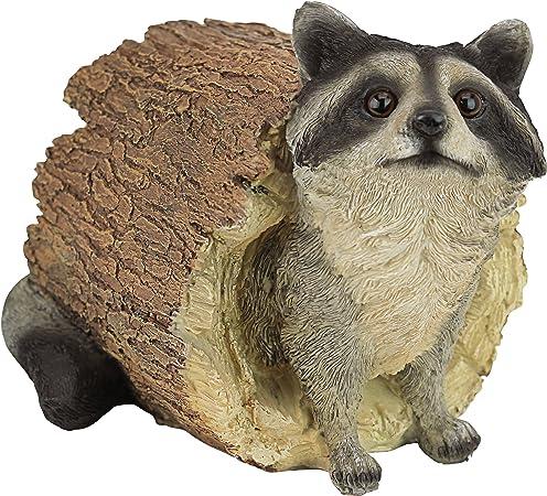 Realistic Looking Raccoon Standing On Hind Legs Statue Detailed Sculpture Amazin