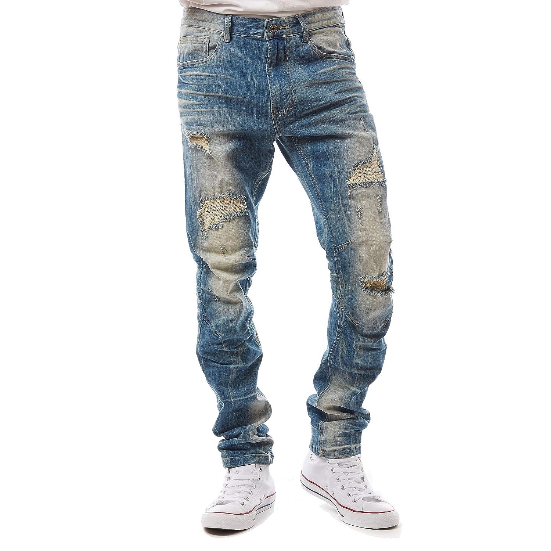 Grey Jungle Mens Big and Tall Fashion Denim Pants