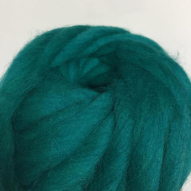 FloraKnit 8.5oz 100/% Merino Wool Super Chunky Yarn Bulky Roving Yarn for Arm Knitting 0.55 lb Crocheting Felting Making Rugs Blanket and Crafts Pale Pink 54 Yards