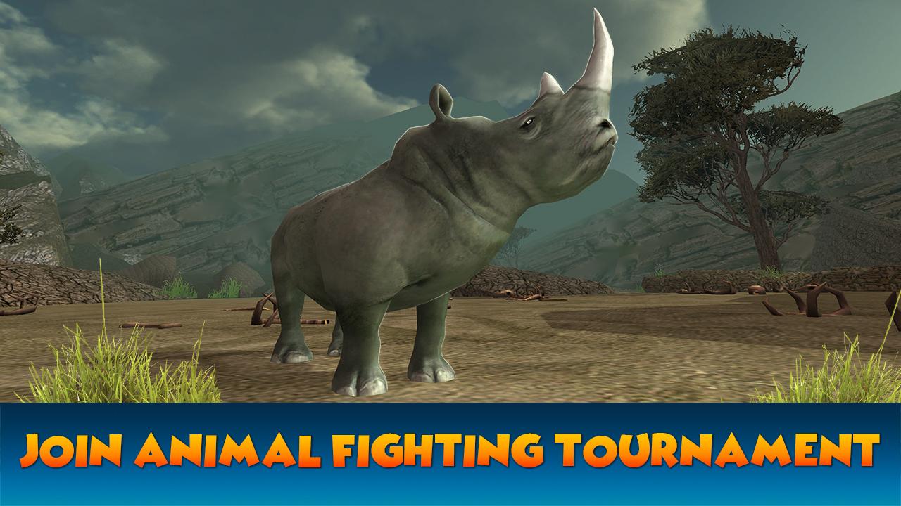Animal Fighting War: Crazy Rhino Rampage Game | Battle Duel ...