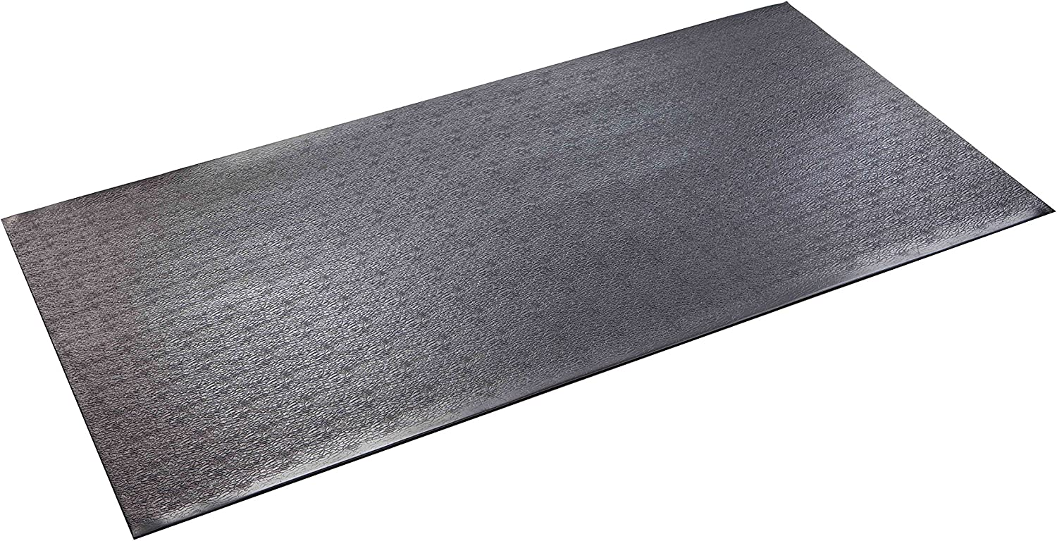 SuperMats High Density Commercial Grade Solid Equipment Mat 40GS Made in U.S.A. for Cardio Equipment Recumbent Bikes and General Floor Mat Needs 2.5 Feet x 5 Feet 30 in x 60 in 76.2 cm x 152.4 cm