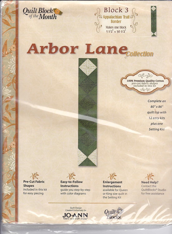amazon com joann quilt block of the month arbor lane collection 3