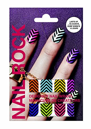 Nail Rock Designer Nail Wraps Chevrons Amazon Beauty