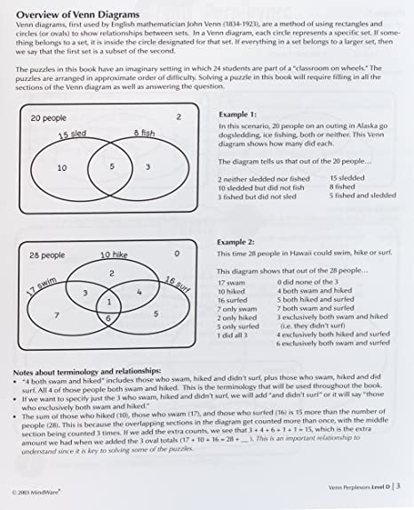Amazon mindware venn perplexors level d 48 puzzles great amazon mindware venn perplexors level d 48 puzzles great for standardized tests challenging and engaging grades 9 12 evelyn b christensen ccuart Choice Image