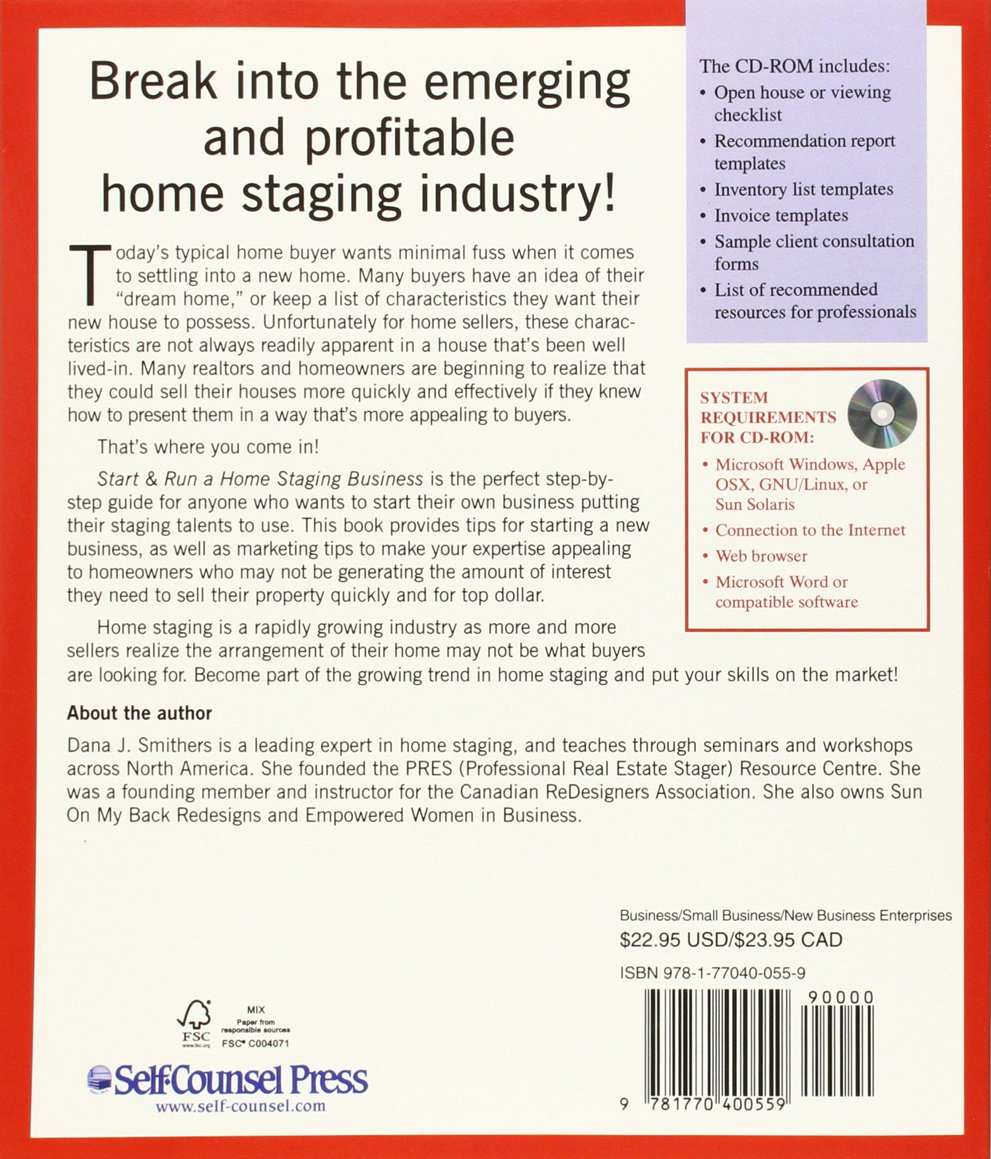 Start U0026 Run A Home Staging Business [With CDROM]: Amazon.de: Dana Smithers:  Fremdsprachige Bücher