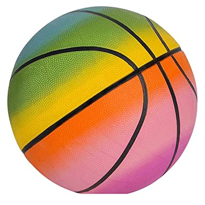 "9.5"" RAINBOW BASKETBALL: Toys & Games"