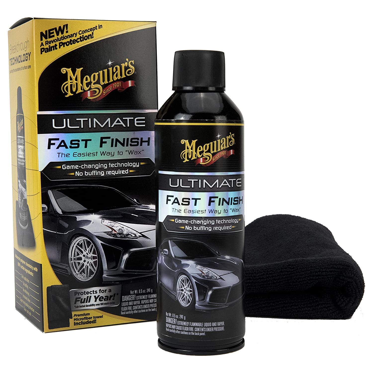"Meguiar's Ultimate Fast Finish – The Easiest Way to ""Wax"" – G18309, 8.5 oz Meguiar's Meguiar's Ultimate Fast Finish – The Easiest Way to ""Wax"" – G18309"