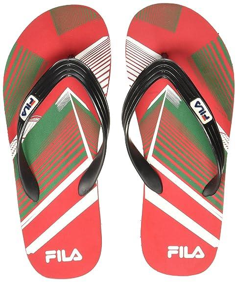 b2fb8553c650 Fila Men s Shine Flip Rd and Blk Hawaii Thong Sandals - 10 UK India ...