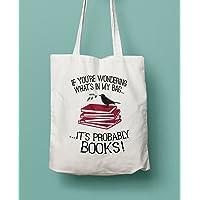 Book Lovers Canvas Shopper Tote Bag
