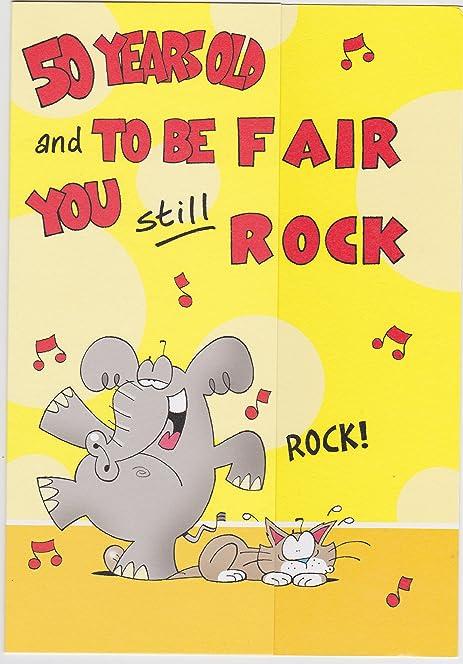 Happy birthday Card Funny Joke card 50th birthday Amazonco – Happy 50th Birthday Cards Funny