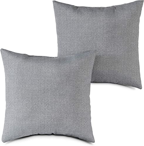 South Pine Porch AM4803S2-HEATHER Heather Gray Outdoor 17-inch Square Accent Pillow