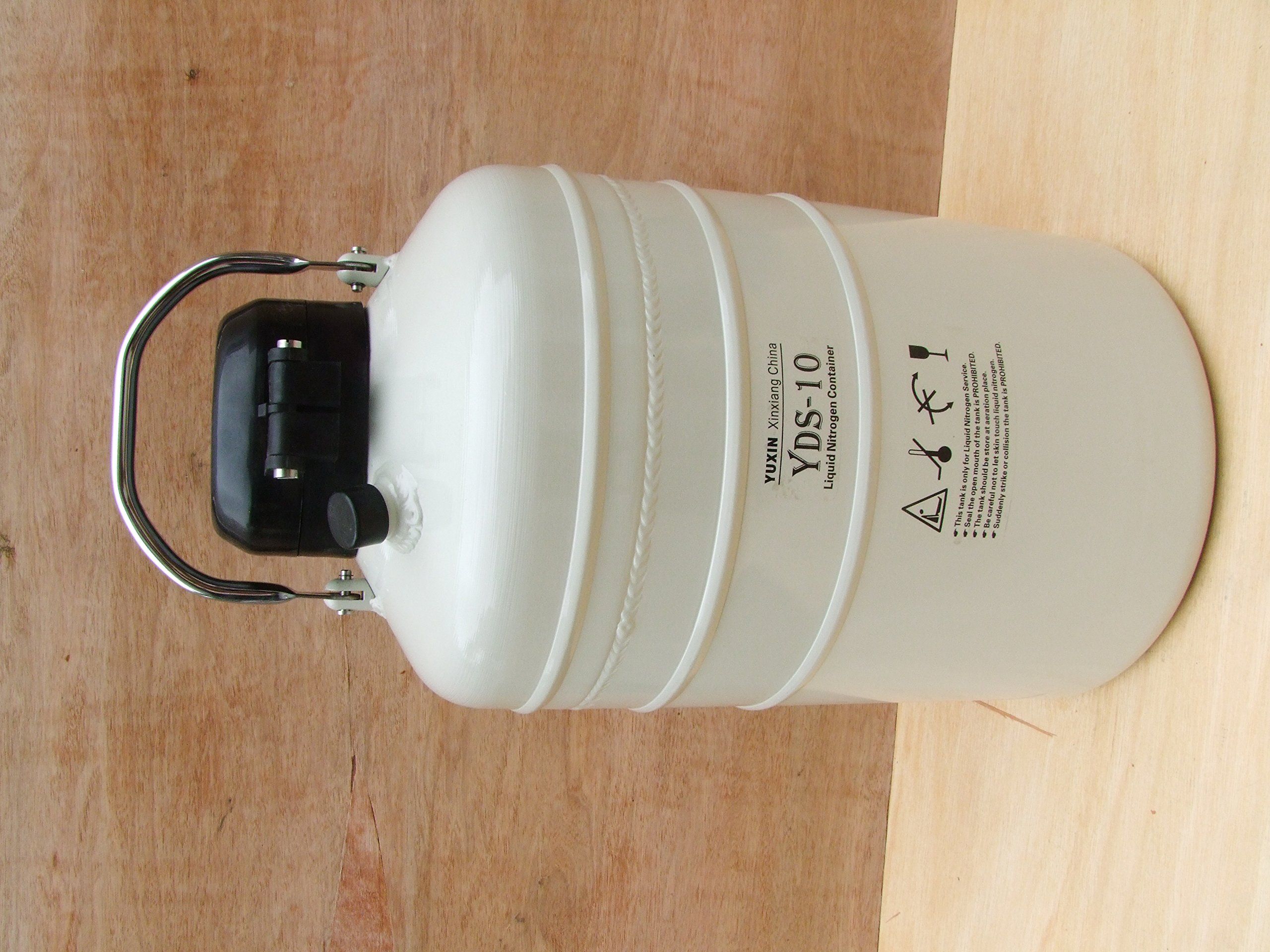 10 L Cryogenic Container Liquid Nitrogen Ln2 Tank with Straps and Carry Bag by HardwareFactoryStore.com (Image #2)