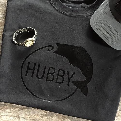 Hubby Fishing Mens Shirt Gift Idea For Birthday Valentines Day Boyfriend