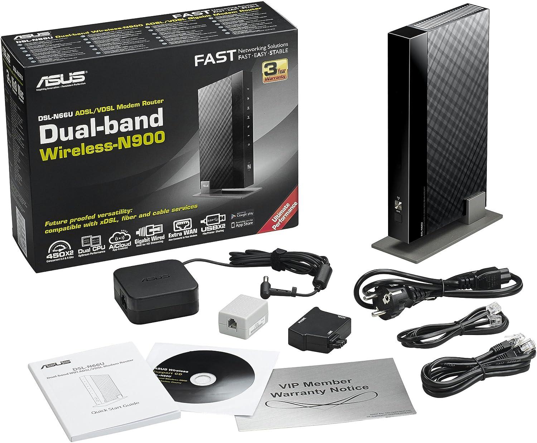 Asus DSL-N66U N900 Black Diamond Dual-Band: Amazon.de: Computer ...