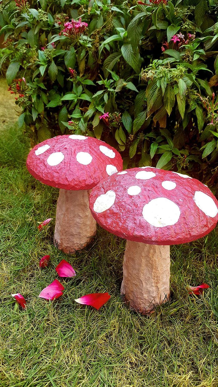 Tamatina Garden Decoration Pair Of Garden Mushrooms Garden