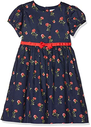 24d3fb2b0 Rachel Riley Girl's Red Rose Party Dress Multicolour (Blue Navy/Rd Na),