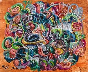 Alejandro VI Pintura Abstracta Original Hecha A Mano