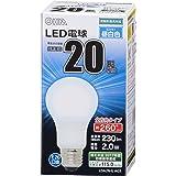 OHM LED電球 一般電球形 20形相当 口金直径26mm 昼白色 [品番]06-1732 LDA2N-G AG5