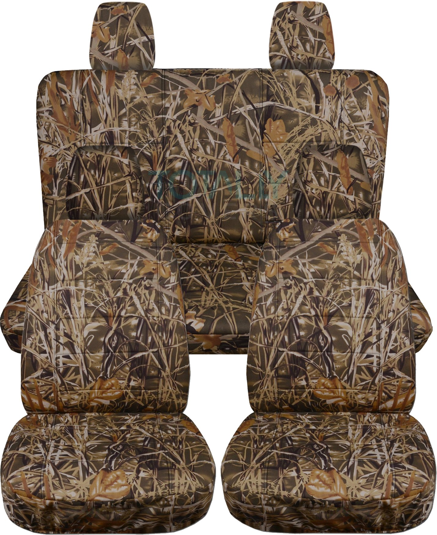 Totally Covers Fits 2011-2018 Jeep Wrangler JK Camo Seat Covers: Wetland Camouflage - Full Set: Front & Rear (19 Prints) 2012 2013 2014 2015 2016 2017 2-Door/4-Door Complete Back Solid/Split Bench