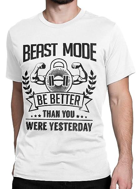 Camiseta Hombre Beast Mode - Camiseta Crossfit 100% algodòn LaMAGLIERIA: Amazon.es: Ropa y accesorios