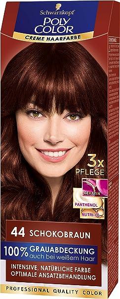 Schwarzkopf Poly Color Coloration 44 - Tinte de coloración, 115 ml, 1 unidad, color marrón chocolate