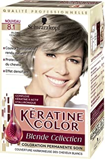kratine color coloration permanente 81 blond cendr 60 ml - Belle Color Blond Cendr