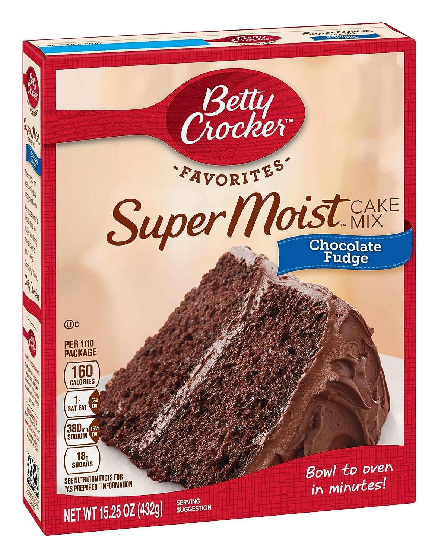 Betty Crocker Chocolate Fudge Cake Mix, 15.25 oz