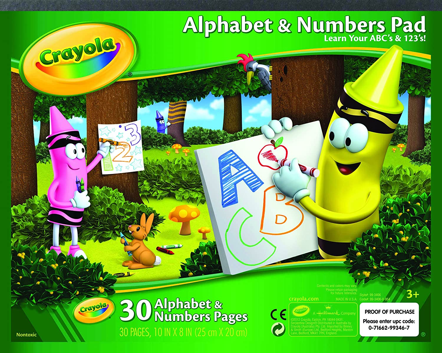 Amazon.com: Crayola Alphabet and Number Pad ABC/123 Tablet: Toys & Games