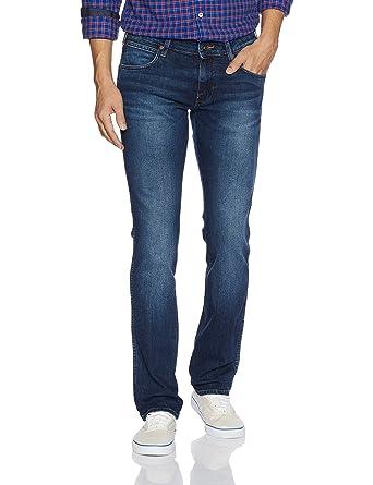 0e92f919 Wrangler Men's Slim Fit Jeans (8907649194089_W26703W2298B_28W x 33L_Dark  Stone)