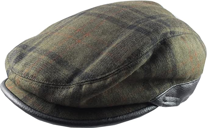 90d765626650b Image Unavailable. Image not available for. Colour   Train Driver  Style Flat  Cap - Green Plaid ...