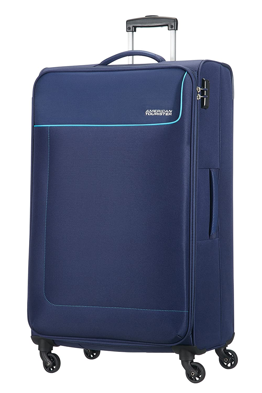 Amazon.com | American Tourister Funshine 4 Roues 79/29 Valise, 79 cm, 99, 5 L, Orion Blue | Suitcases