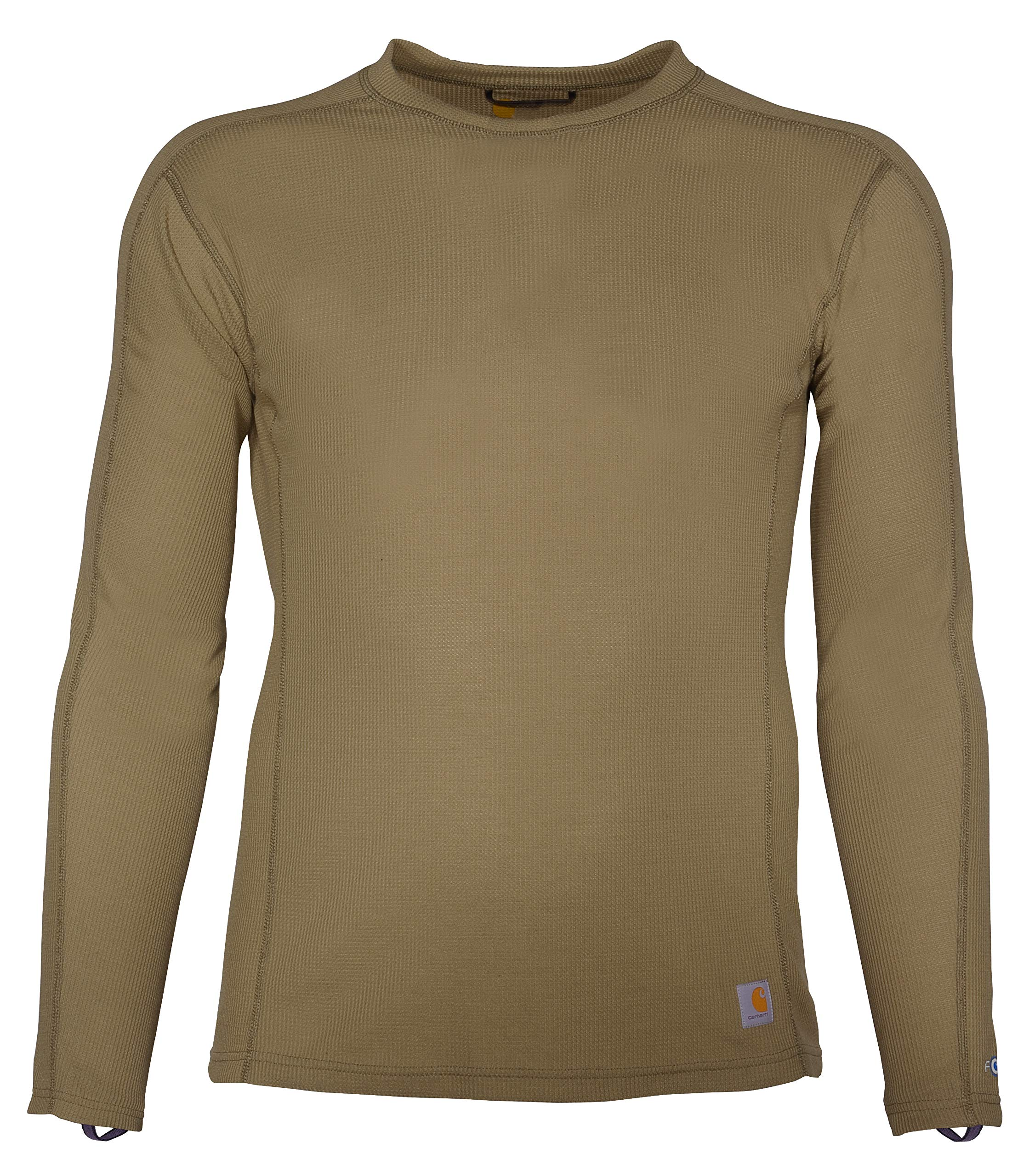 Carhartt Men's Size Force Midweight Classic Thermal Base Layer Long Sleeve Shirt, Burnt Olive, 3X-Large Tall by Carhartt