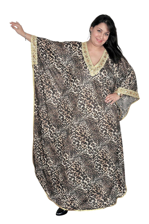 Egypt Bazar Eleganter Damen Kaftan Kleid im Butterfly Look Sommer Urlaub Hauskleid KA01148