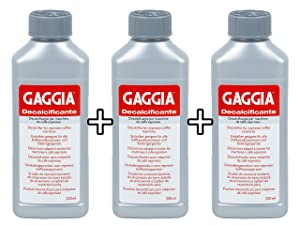 Gaggia Decalcifier Descaler Solution 250ml (3 Bottles)