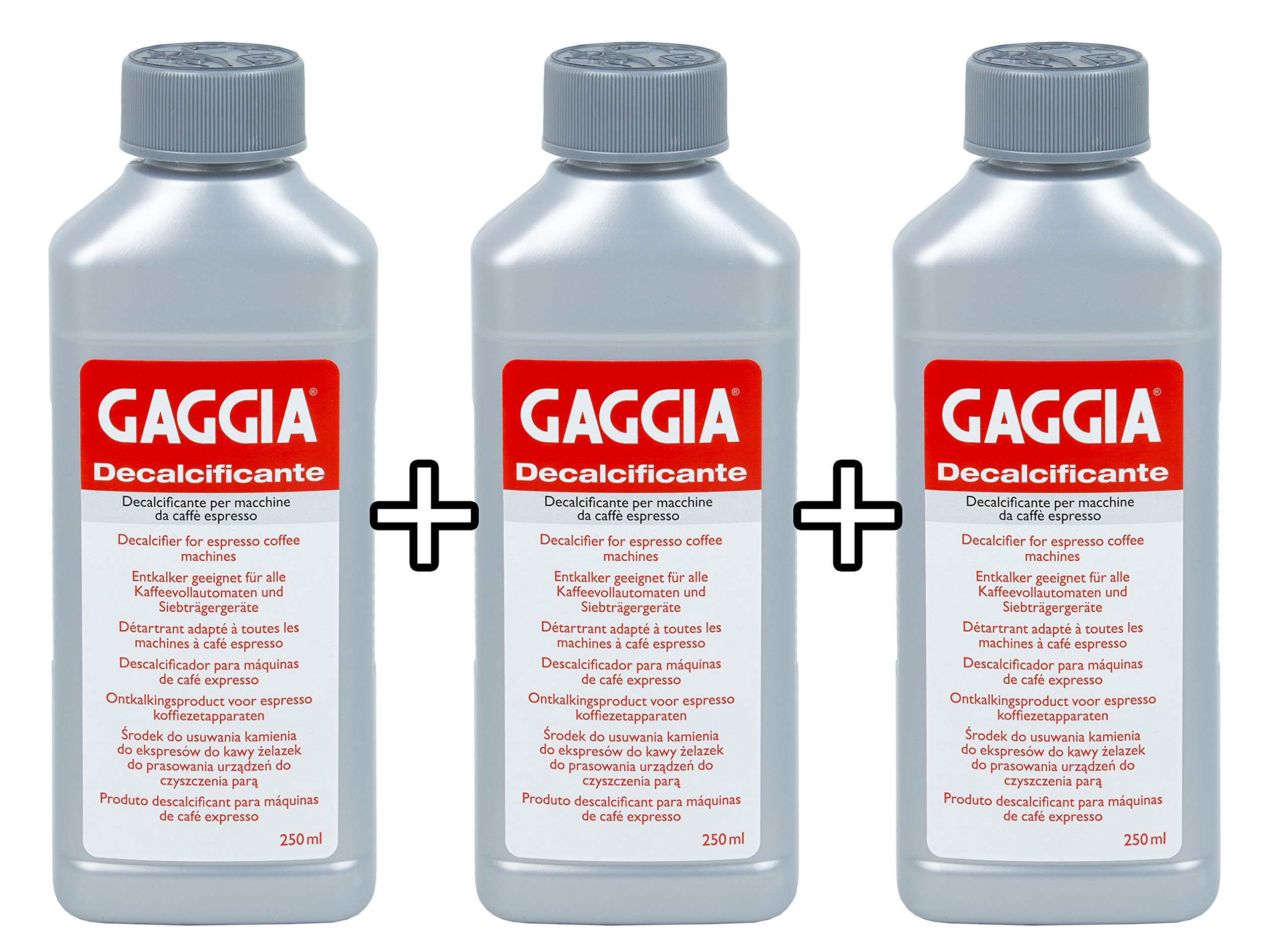 Gaggia Decalcifier Descaler Solution 250ml (3 Bottles) product image