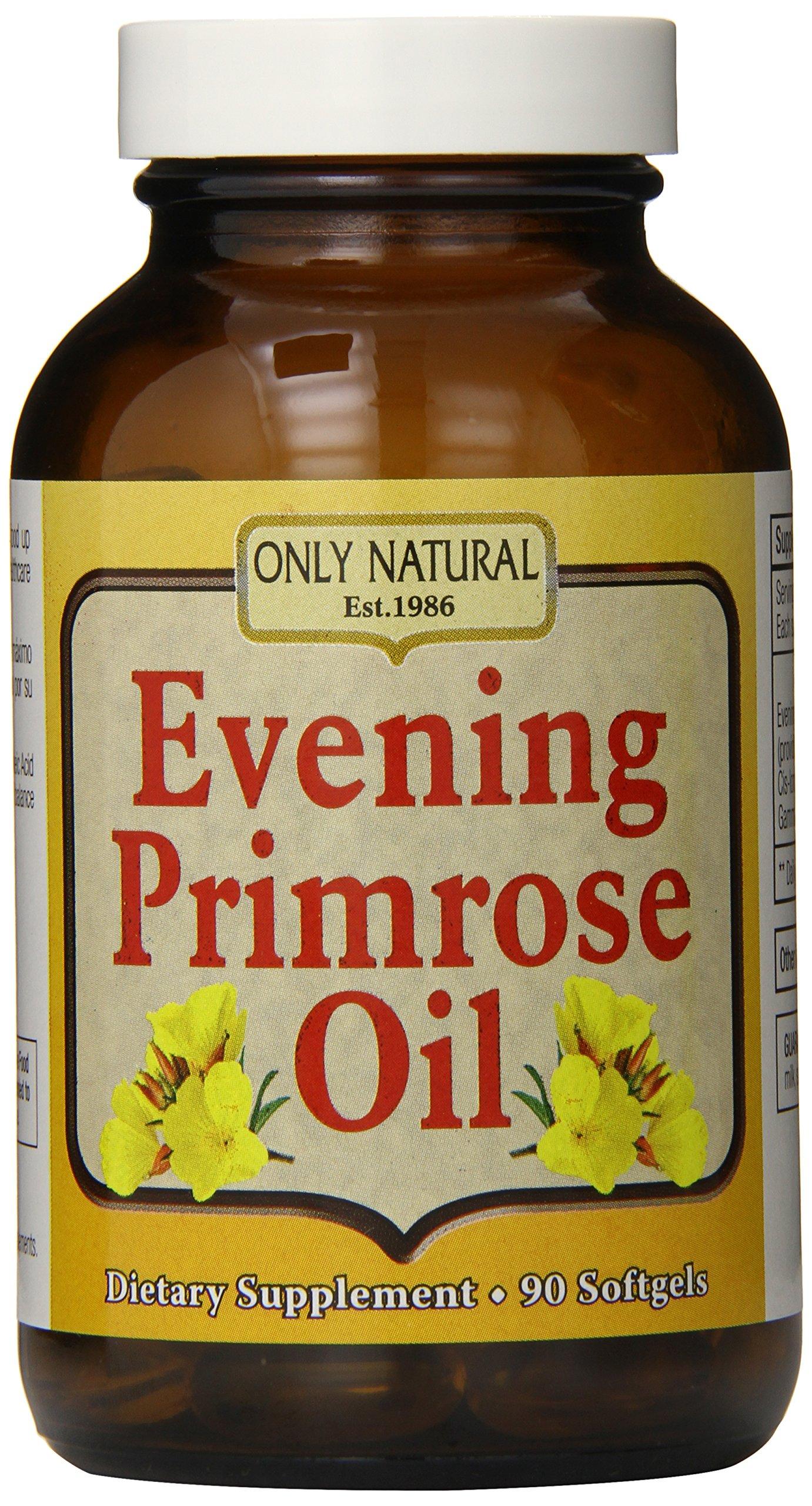 Only Natural Nutritional Supplement Softgels, Evening Primrose Oil, 90 Count